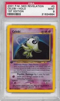 Pokemon Neo Revelations 1st Edition Single Celebi 3/64 - PSA 9