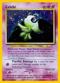 Pokemon Neo Revelations Single Celebi 3/64 - MODERATE PLAY (MP)
