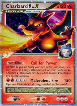 Pokemon Platinum Supreme Victors Single Charizard G LV.X - SLIGHT PLAY (SP)