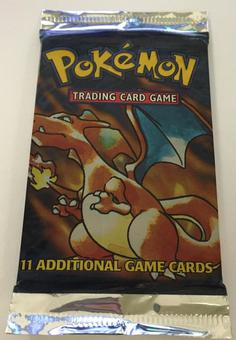 Pokemon Base Set 1 Sealed Booster Pack - Charizard Art