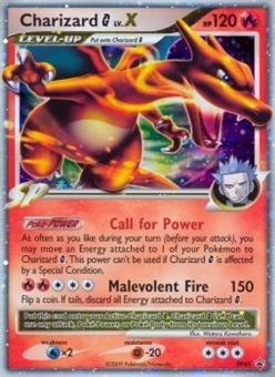 Pokemon Diamond and Pearl Promo Single Charizard C LV.X (DP45) - SLIGHT PLAY (SP)