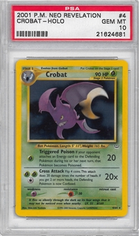Pokemon Neo Revelations Single Crobat 4/64 - PSA 10 - *21624681*
