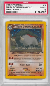 Pokemon Neo Destiny Single Dark Donphan 3/105 - PSA 9 - *21624607*