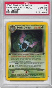 Pokemon Team Rocket 1st Edition Single Dark Golbat 7/82 - PSA 10 GEM MINT