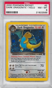 Pokemon Team Rocket Single Dark Dragonite 5/82 - PSA 8 - *21822569*