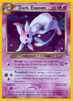Pokemon Neo Destiny Single Dark Espeon 4 - SLIGHT PLAY (SP)