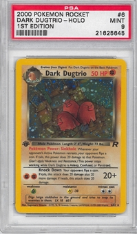 Pokemon Team Rocket 1st Edition Single Dark Dugtrio 6/82 - PSA 9 - *21625645*