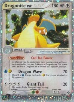 Pokemon EX Dragon Single Dragonite EX 90/97 - SLIGHT / MODERATE PLAY (SP/MP)