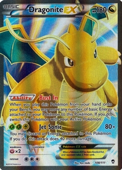 Pokemon XY Furious Fists Single Dragonite EX 108 FULL ART - NEAR MINT (NM)