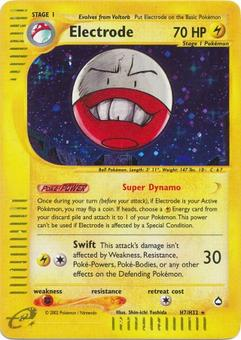 Pokemon Aquapolis Single Electrode H7/H32 - SLIGHT PLAY (SP)