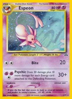 Pokemon Neo Discovery Single Espeon 1/75 - HEAVY PLAY (HP)