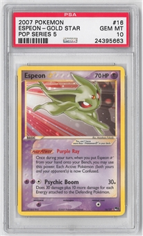 Pokemon POP Series 5 2007 Single ESPEON * 16/17 - PSA 10 GEM MINT ***24395663***