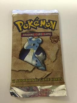 Pokemon Fossil Sealed Booster Pack - Lapras Art