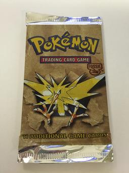 Pokemon Fossil Sealed Booster Pack - Zapdos Art