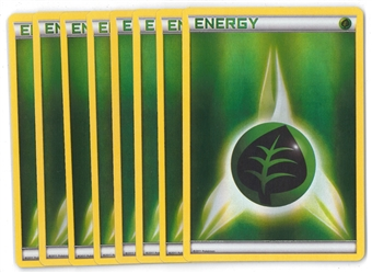 Pokemon FULL-ART FOIL Leaf Energy X8 - NEAR MINT (NM)