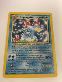 Pokemon GERMAN Neo Genesis Single Feraligatr 4/111 - SLIGHT PLAY (SP)