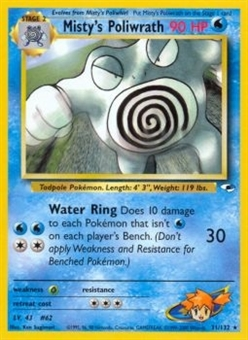 Pokemon Gym Heroes 1st Edition Single Misty's Poliwrath 31/132 - NEAR MINT (NM)