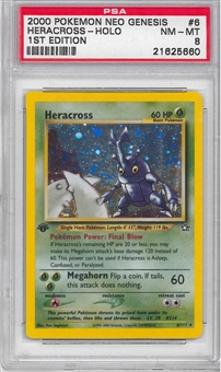 Pokemon Neo Genesis 1st Edition Single Heracross 6/111 - PSA 8 - *21625660*