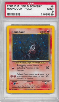 Pokemon Neo Discovery Single Houndour 5/75 - PSA 9 - *21625589*