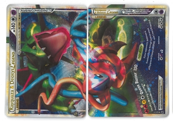 Pokemon HS Undaunted Singles Rayquaza & Deoxys BOTH HALVES - NEAR MINT (NM)