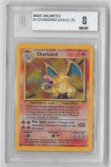 Pokemon Base Set 1 Single Charizard 4  -  BGS 8 *0000210670*