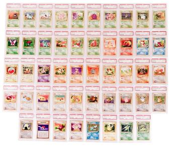 Pokemon Japanese Jungle Complete Set PSA Graded