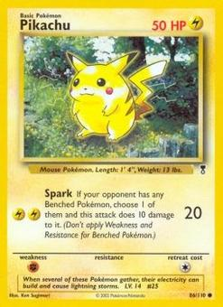 Pokemon Lgendary Collection Single Pikachu 86 REVERSE FOIL - SLIGHT PLAY (SP)