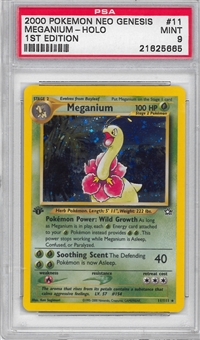Pokemon Neo Genesis 1st Edition Single Meganium 11/111 - PSA 9 - *21625665*