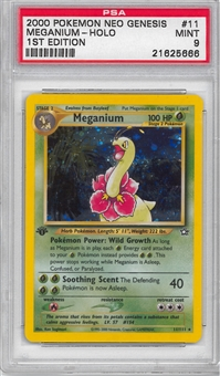 Pokemon Neo Genesis 1st Edition Single Meganium 11/111 - PSA 9 - *21625666*