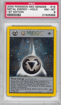 Pokemon Neo Genesis 1st Edition Single Metal Energy 19/111 - PSA 8 - *21625668*