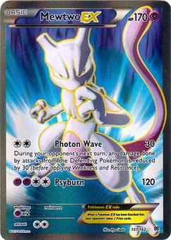 Pokemon XY BREAKthrough Single Mewtwo EX Full Art 157/162 - SLIGHT PLAY (SP)