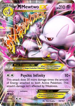 Pokemon XY BREAKthrough Single M Mewtwo ex 64/162 - NEAR MINT (NM)