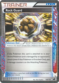 Pokemon Plasma Freeze Single Rock Guard 108/116  - NEAR MINT (NM)