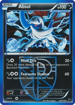 Pokemon Plasma Freeze Single Absol 67/116 (Slight Play)