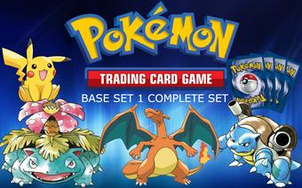 Pokemon Base Set 1 Complete Set - NEAR MINT / SLIGHT PLAY - NM/SP 1-102