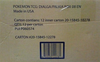 Pokemon Dialga and Palkia Premium 12-Box Case