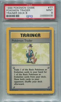 Pokemon Trainer Deck B Single Pokemon Trader 77/102  -  PSA 9