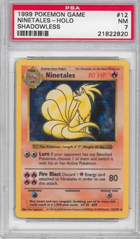Pokemon Base Set 1 Single Ninetales 12/102 - SHADOWLESS - PSA 7 - *21822820*