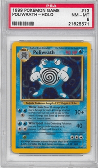 Pokemon Base Set 1 Single Poliwrath 13/102 - PSA 8 - *21625571*
