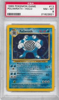 Pokemon Base Set 1 Single Poliwrath 13/102 - PSA 8
