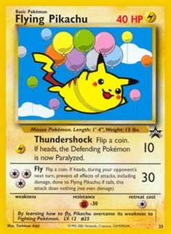 Pokemon Promotional Single Flying Pikachu 25 - MODERATE PLAY (MP)