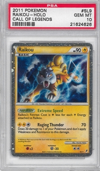 Pokemon Call of Legends Single Raikou SL9 - PSA 10 - *21624626*