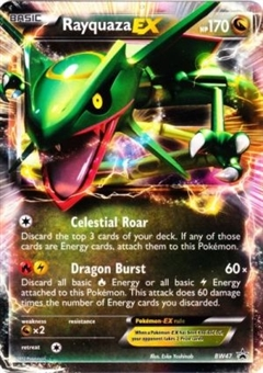 Pokemon Promotional Single Rayquaza EX BW47 - SLIGHT PLAY (SP)