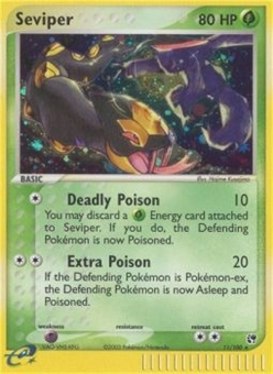 Pokemon EX Sandstorm Single Seviper 11/100 - NEAR MINT (NM)