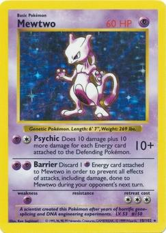 Pokemon Base Set Shadowless Single Mewtwo 10 - NEAR MINT (NM)