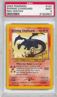 Pokemon Neo Destiny Single Shining Charizard 107/105 - PSA 9 - *21822827*