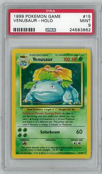 Pokemon Base Set 1 Single Venusaur 15/102 PSA 9 - **24583862**