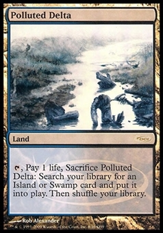 Magic the Gathering Promo Single Polluted Delta JUDGE FOIL - SLIGHT PLAY (SP)