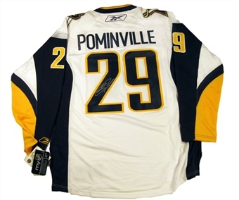 Jason Pominville Autographed Buffalo Sabres Old Logo White Hockey Jersey