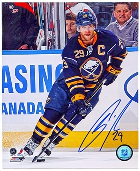 Jason Pominville Autographed Buffalo Sabres 8x10 Hockey Photo